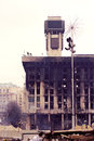 KIEV,UKRAINE: Trade Unions house burnt