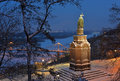 Kiev view with Saint Vladimir Royalty Free Stock Photo