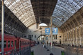 Kievskaya railway station in Moscow, Russia Royalty Free Stock Image