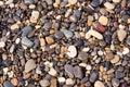 Kiezelstenen, natte stenen, textuur, achtergrond Stock Afbeelding