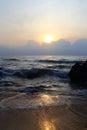 Kijal beach sunrise at trengganu malaysia Stock Images