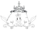 Kikkerprins cartoon character Royalty-vrije Stock Afbeeldingen