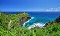 Kilauea historical lighthouse kauai island hawaii Stock Photos