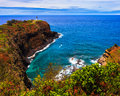 Kilauea lighthouse bay on a sunny day in kauai hawaii islands Royalty Free Stock Image