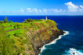 Kilauea Lighthouse, Kauai Hawaii Stock Photo