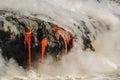 Kilauea Volcano Lava Flow Royalty Free Stock Photo