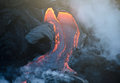 Kilauea volcano lava flow, Hawaii Royalty Free Stock Photo