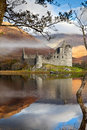 Kilchurn castle on Loch Awe Royalty Free Stock Photos