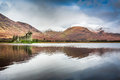 Kilchurn castle over lake scotland Stock Photo