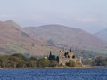 Kilchurn castle in scotland of Royalty Free Stock Images