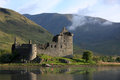 Kilchurn castle scotland on an early may morning Stock Photography