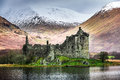 Kilchurn Castle in Winter Stock Photography