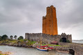 Kilcoe castle in Ireland Royalty Free Stock Image