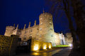 Kilkenny castle medieval at night in ireland Royalty Free Stock Photography