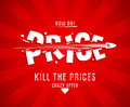 Kill the prices design template with bullet Royalty Free Stock Images