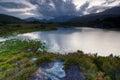 Killarney national park evening sky over lakes in republic of ireland europe Royalty Free Stock Photo