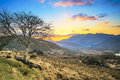 Killarney pass in county kerry at sunset ireland Royalty Free Stock Photography