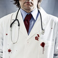 Killer doctor Stock Photo