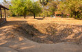 Killing fields pits phnom penh cambodia february mass burial mark the ground at the choeung ek genocidal center commonly known as Stock Image