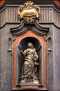Kilo square statue of a women in the centre of napoli italy church san domenico Stock Photography