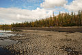 Kilometers to east norilsk western part lake lama Royalty Free Stock Photos