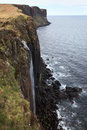 Kilt rock coastline cliff in scottish highlands scotland uk Stock Image