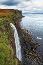 Kilt rock waterfall isle of skye scotland uk Stock Image