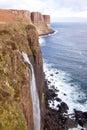 Kilt rock Waterfall Scotland Stock Photography