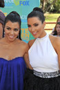 Kim Kardashian,Kourtney Kardashian Stock Images