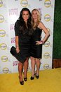 Kim richards kyle richards at the world according to paris premiere party roosevelt hotel hollywood ca Stock Photography
