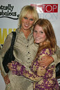 Kimberly stewart and friend at the opening of the play what would janice do the el rey theatre los angeles ca Stock Images