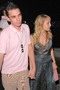 Kimberly stewart nicole richie dj am and boyfriend at s th birthday party at guy s los angeles ca Royalty Free Stock Image