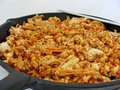 Kimchi fried rice korean dish with and Stock Image