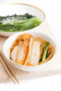 Kimchi korean food on white background Stock Photos