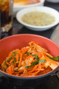 Kimchi salad of korean food traditional in bowl Royalty Free Stock Photo