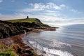 Kimmeridge bay and clavell tower dorset jurassic coast world heritage site england uk Stock Photo