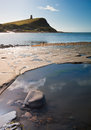 Kimmeridge Bay seascape with rock ledges Royalty Free Stock Photos