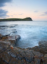 Kimmeridge Bay sunrise landscape, Dorset England Stock Photos