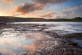Kimmeridge Bay sunrise landscape, Dorset England Stock Image