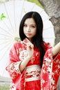 Kimono girl Royalty Free Stock Photo