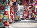 Kimono Japanese dress tradition culture Women wear Royalty Free Stock Photo