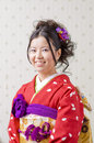 Kimono japanese woman dressed in a Stock Images