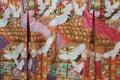 Kimono patterns japanese crane tsuro cloth pattern Stock Photography