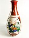 Kina målade den keramiska vasen Royaltyfri Foto