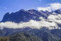 Kinabalu mountian kota mount borneo land below the wind Royalty Free Stock Image