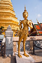 Kinaree a mythology figure is watching the temple in the gra grand palace Stock Image