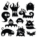 Kind monsters Royalty Free Stock Images