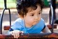 Kind op schommeling Stock Fotografie