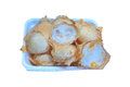 Kind of thai sweetmeat coconut milk mix sugar and flour Royalty Free Stock Photography