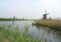 Kinderdijk Historic Dutch Windmill Complex in Molenwaard Royalty Free Stock Photo